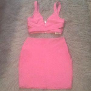 Pink TOBI 2 PC Dress
